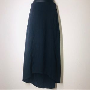 Athleta black maxi skirt Small